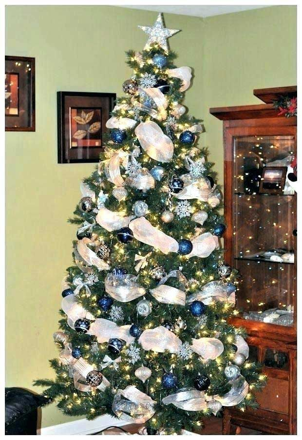 12 Unique Christmas Tree Decorating Ensemble Kits Blue Christmas Tree Silver Christmas Tree Christmas Tree Themes
