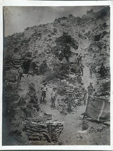'With the camera at Anzac' – 'Dug-out' life Anzac Gully
