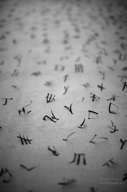 Japanese character -kanji-: photo by Obachyan