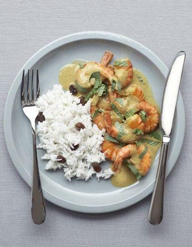 gambas curry et riz coco pour 4 personnes - Recettes Elle à Table - Elle à Table