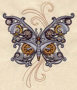 Not a huge steampunk fan, but I gotta admit that this butterfly is coooool!