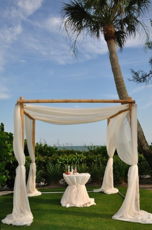 Our Elegant Canopy Is A Beautiful Accent To Lawn Ceremony Cedar Instead Of Bamboo Cheap LinensSimple WeddingSanibel IslandIsland
