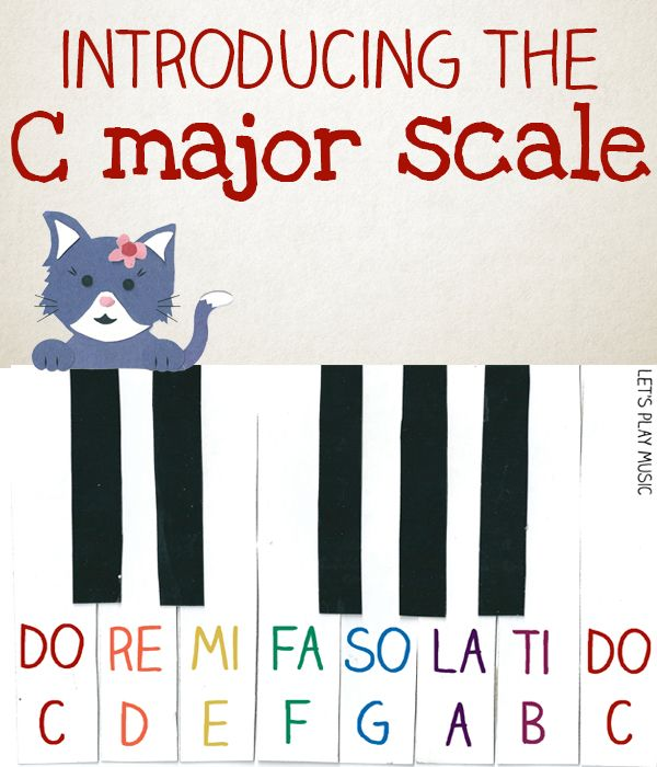 Introducing the C major scale for young beginners - First Piano lessons - Let's Play Music