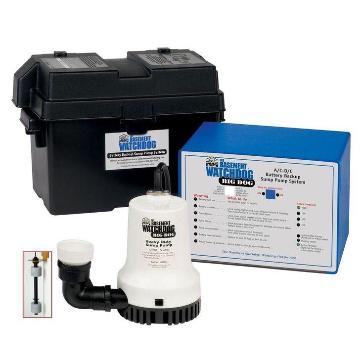 Basement Watchdog Big Dog Computer-Controlled AC/DC Battery Backup Sump Pump System