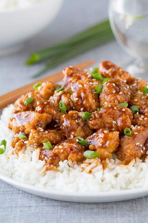 General Tso's Chicken - This chicken is amazing! Much better than take-out! | chicken recipes, dinners