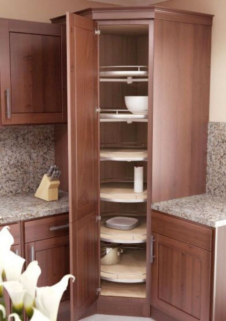 34 Gorgeouѕ Corner Cabinet Storage Ideas For Your Kitshen Corner
