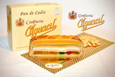 Pan de Cádiz.  This is a marzipan treat filled with candied fruit that is  also called the 'Turrón de Cádiz'. The Spanish Touch - private tours in Spain