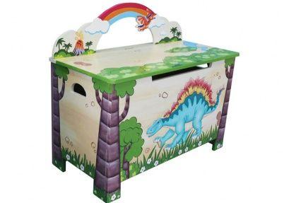 Dinosaurus speelgoedkist met zitbankje | Speelgoedkisten en opbergkisten