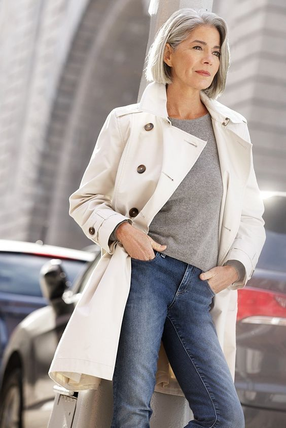 Jeans are ageless Women, Men and Kids Outfit Ideas on our website at 7ootd.com #ootd #7ootd