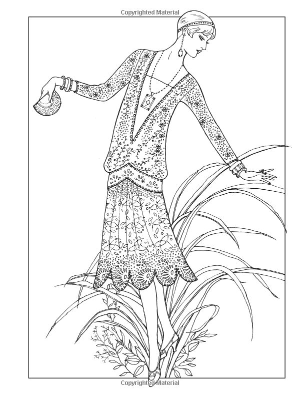 Amazon Creative Haven Jazz Age Fashions Coloring Book Adult