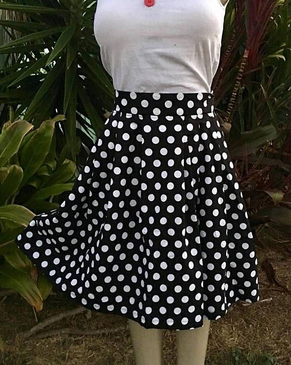 Handmade skirt POLKADOT skirt made in Australia rockabilly/