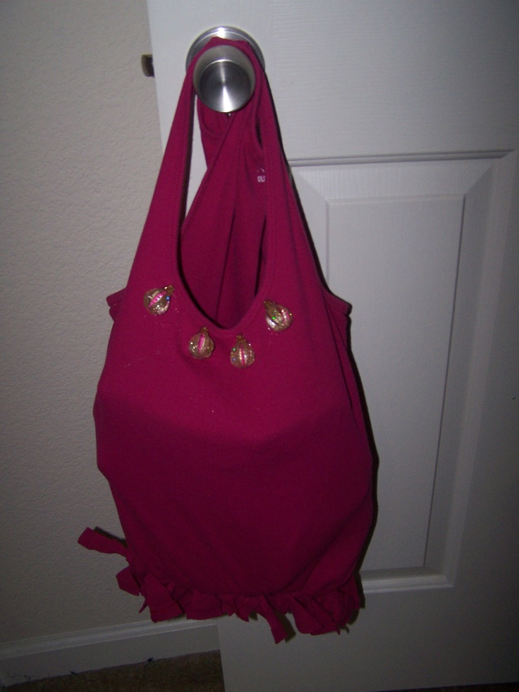 Upcycled tank top tote