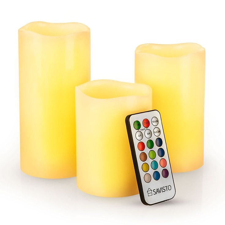 Savisto Flameless LED Real Wax Mood Candles with Colour Changing Remote Control and Timer, Cream: Amazon.co.uk: Lighting