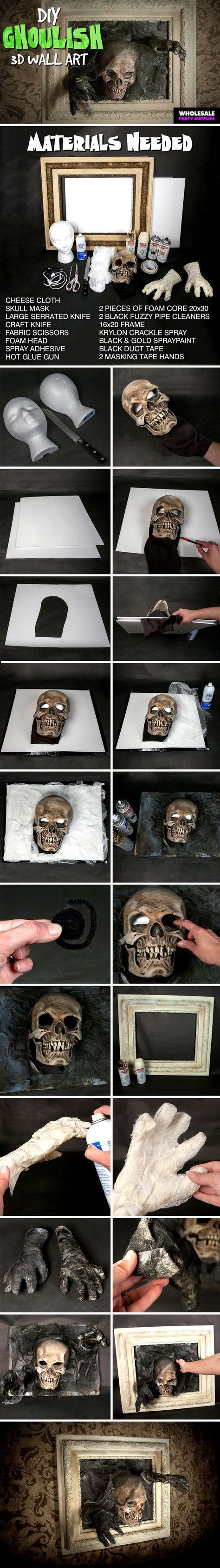 DIY your very own 3D wall art for Halloween!