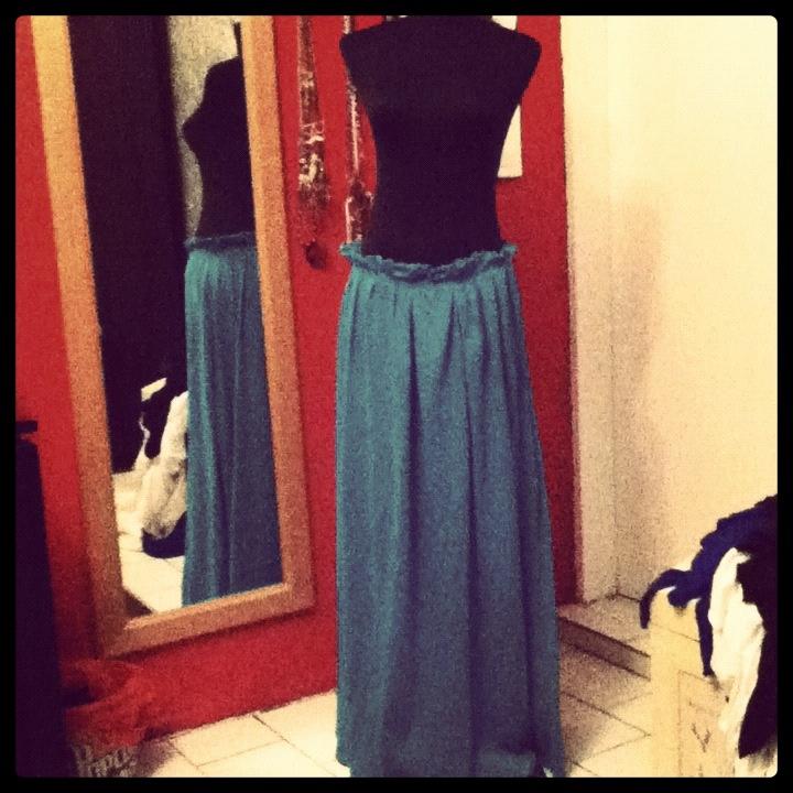 Maxi , paperbag skirt that I made