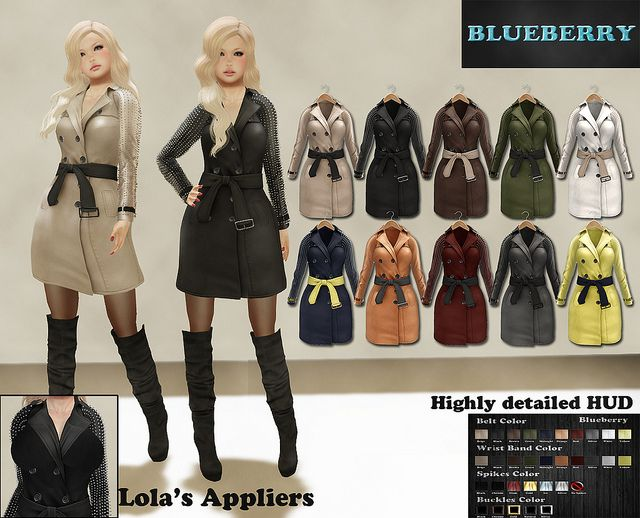 Blueberry Prue Trench Coats   Flickr - Photo Sharing!