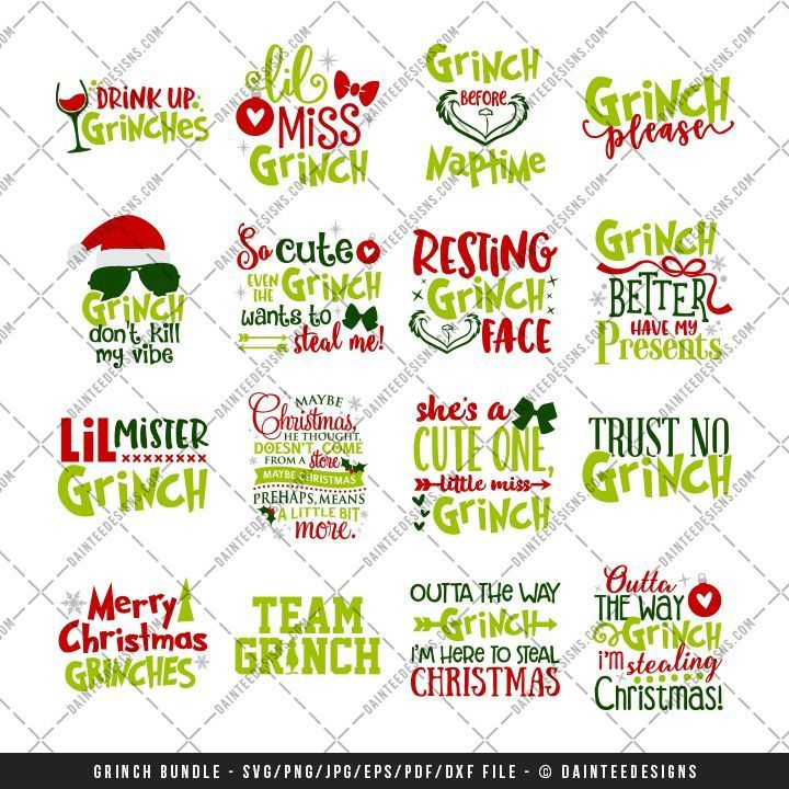 Download Image result for free grinch characters svg files (With ...