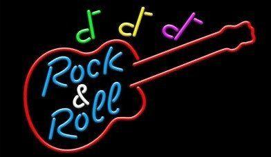 Neon R&R gitaar