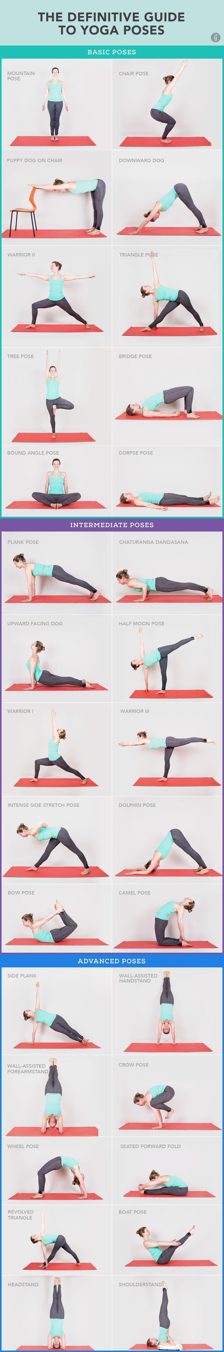 Finally some yoga poses that a beginner and no longer very flexible person might be able to do!  30 Yoga Poses You Really Need To Know  Namaste! #yoga #workout #fitness