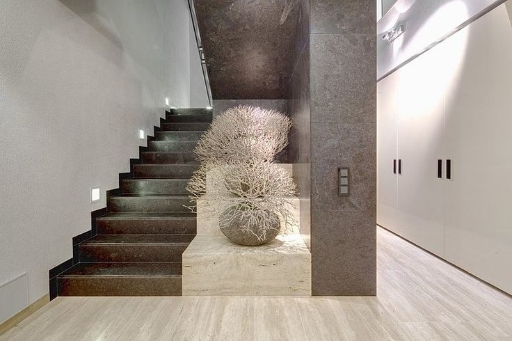 stunning neutral palette and textures | entrance hall || Villa Decín by Studio Pha