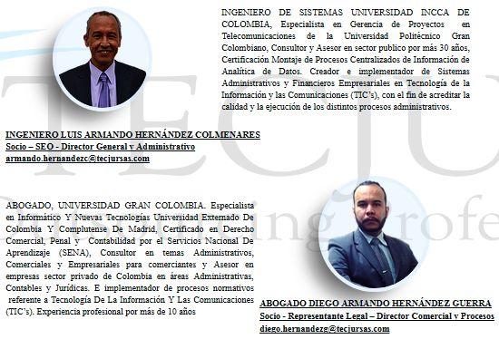Lo invitamos a conocer más de nuestros fundadores y nuestro objetivo misional en http://tecjursas.com/