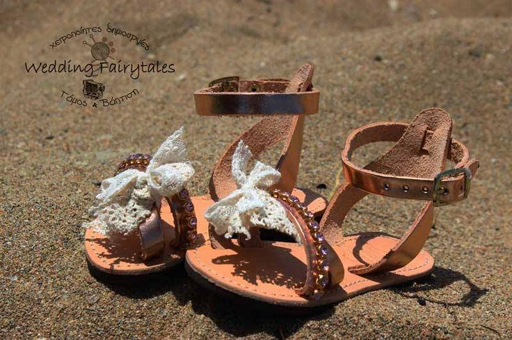 sandal bronze strass pon pon
