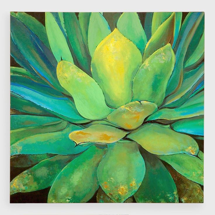 Vibrant green hues draw the eye in this depiction of the Central and South American succulent by self-taught, Kauai-born artist Elinor Luna.