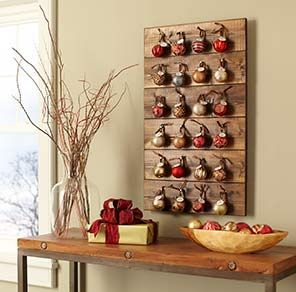 DIY Christmas ornament Advent calendar, maybe do something with getting to put the ornament on the tree?