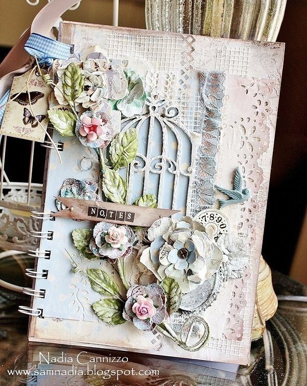 Nadia Cannizzo , altered note book , notebook using Zutter-Bind-It- All , Riddersholm Design , http://samnadia.blogspot.com.au/2013/05/a-notebook-for-riddersholm-designs-for.html