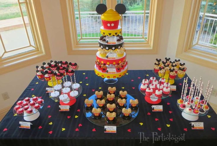 Incredible treats at a Mickey Mouse birthday party!