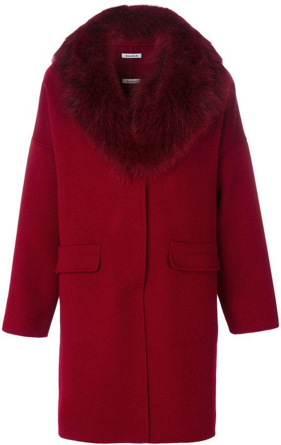P.A.R.O.S.H. classic fur-lined coat