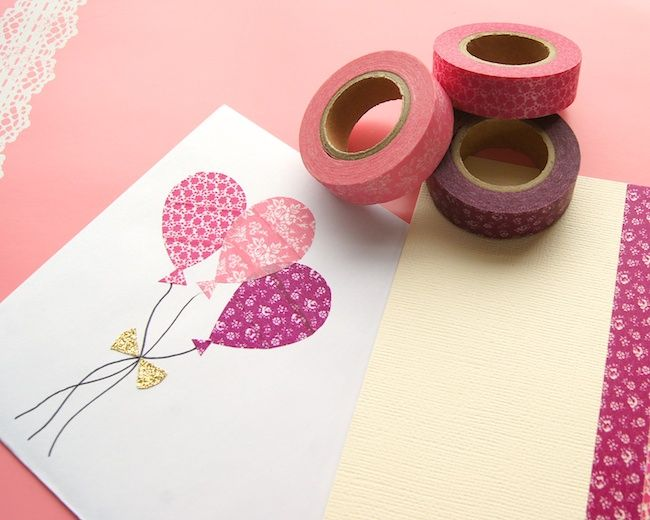 Omiyage Blogs: Send Pretty Mail #4 - Washi Tape Birthday Card