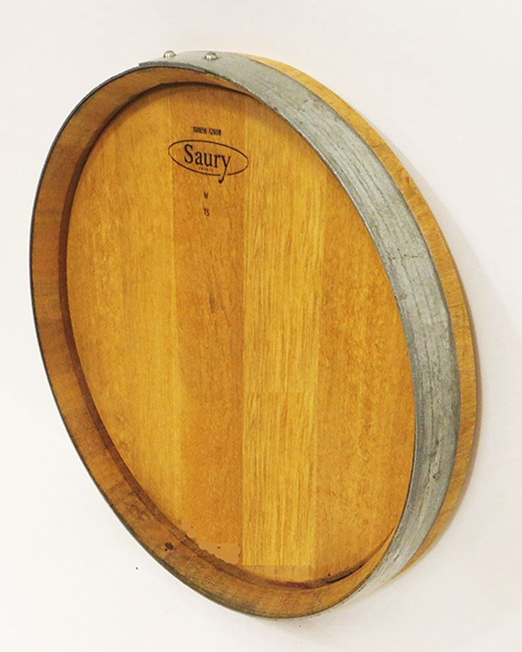 Oak Wine Barrel Head Plaque mounted onto your bar room from www.mastergardenproducts.com