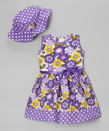 Purple Floral Dress & Hat - Infant, Toddler & Girls #zulily #zulilyfinds