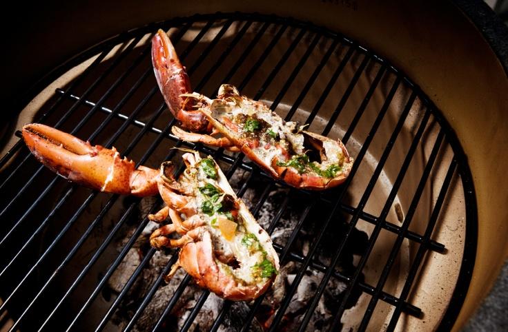 De lekkerste gegrillde kreeft komt uit een Big Green Egg barbecue.