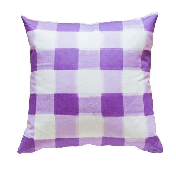 Lilac Burnside Buffalo Check Pillow Buffalo Check