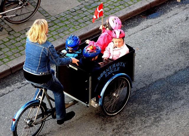 Only in Denmark do they have such an awesome box bike!!