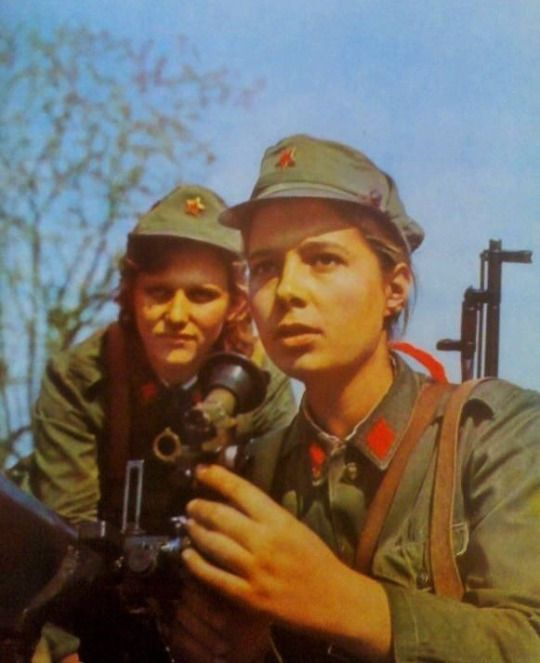 Female soldiers of the Albanian People's Army.1970