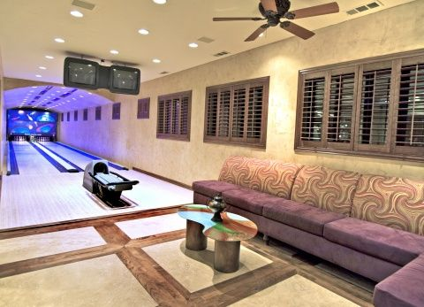 Attractive Built In Banquette Seating For Home Bowling Alley. Part 25