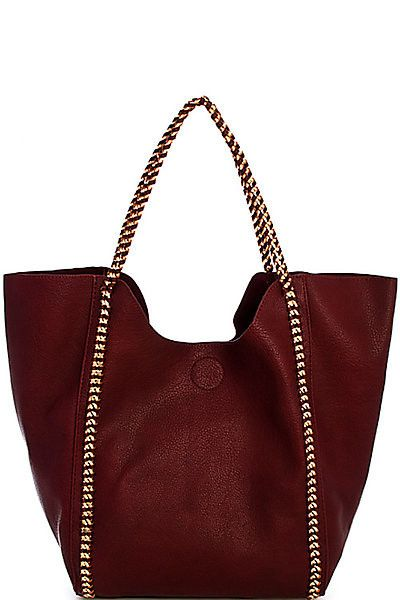 Street Level Chain Vegan Leather Handbag