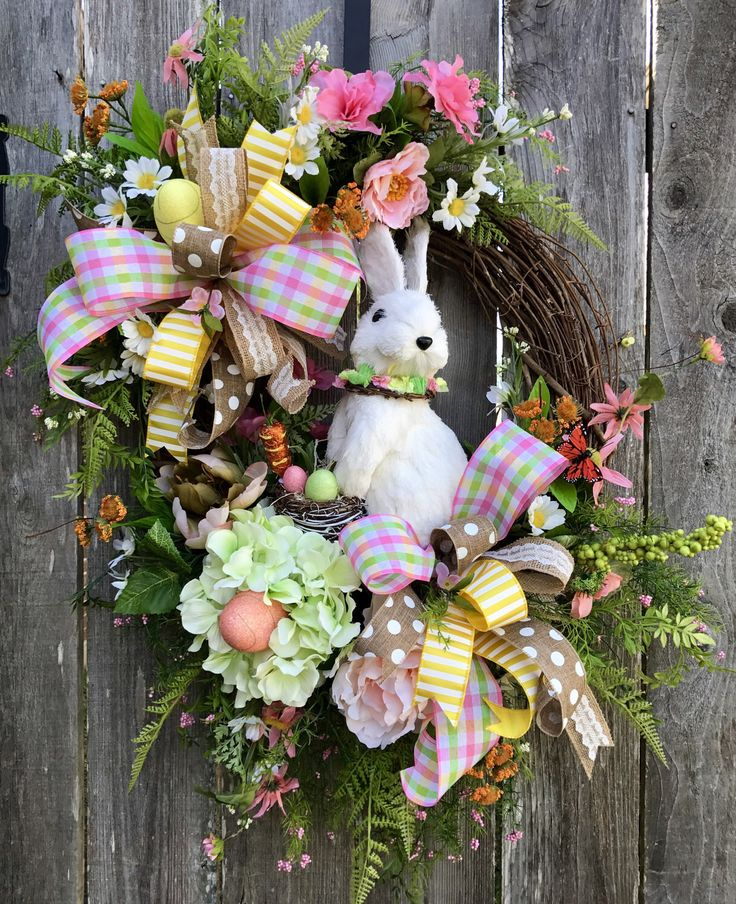 A personal favorite from my Etsy shop https://www.etsy.com/listing/504214677/easter-bunny-grapevine-bunny-grapevine