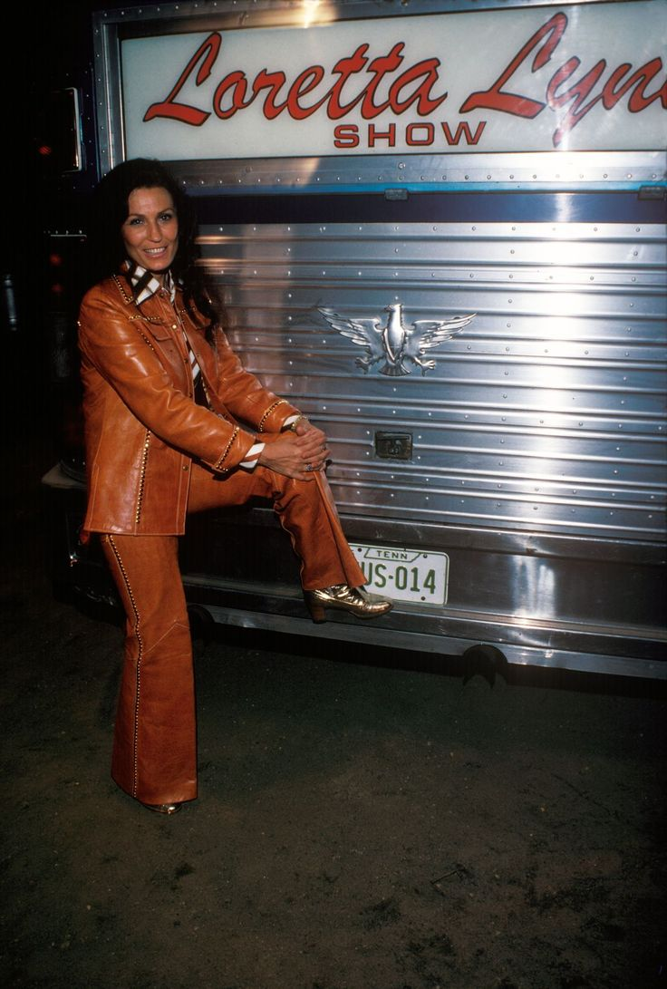 Loretta Lynn In Front Of Her Tour Bus