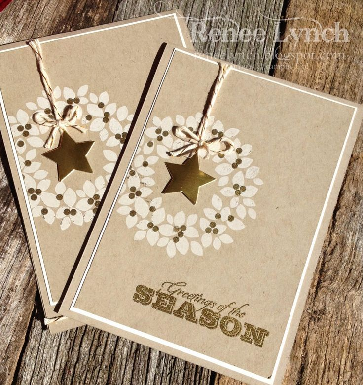 By Renee Lynch, Twelve days of Christmas, Stampin' Up! - wonderful wreath - star - crumb cake.