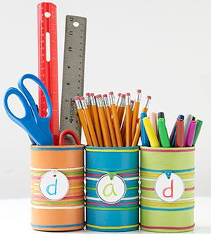 Desk Organizer for Dad    Help Dad sort office supplies in style with this neat desk organizer.