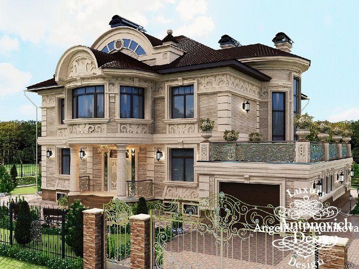 дизайн фасада загородного дома с мансардой - фото реализованного проекта. Фото 2016 - Дизайн экстерьера