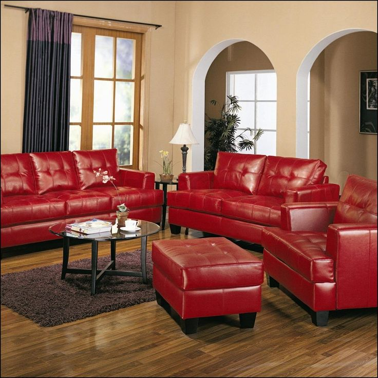 Red Leather Couches Decorating Ideas