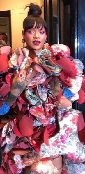 Rihanna heading to the 2017 MET Gala in New York.