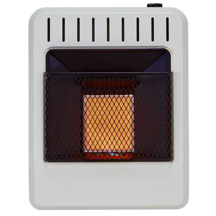Dual Fuel Ventless Infrared 10,000 BTU Natural Gas / Propane Wall Mounted Heater with Automatic Thermostat