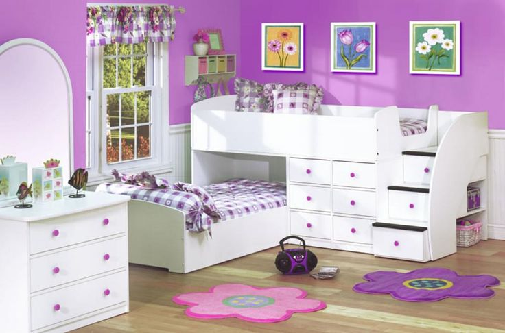 girls-white-bedroom-furniture-with-violet-purple-and-pink-ascent-decor