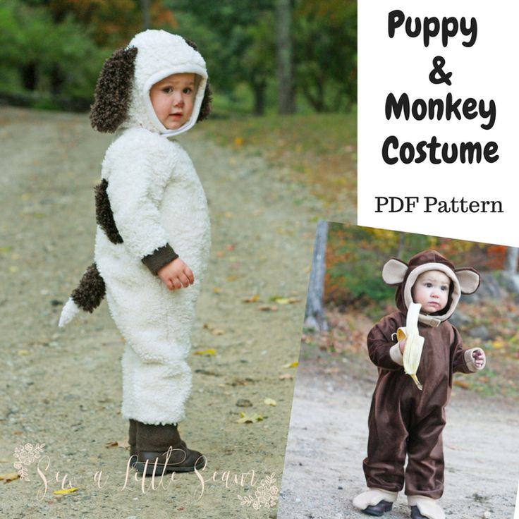 Puppy and Monkey Costume (2T) | Craftsy